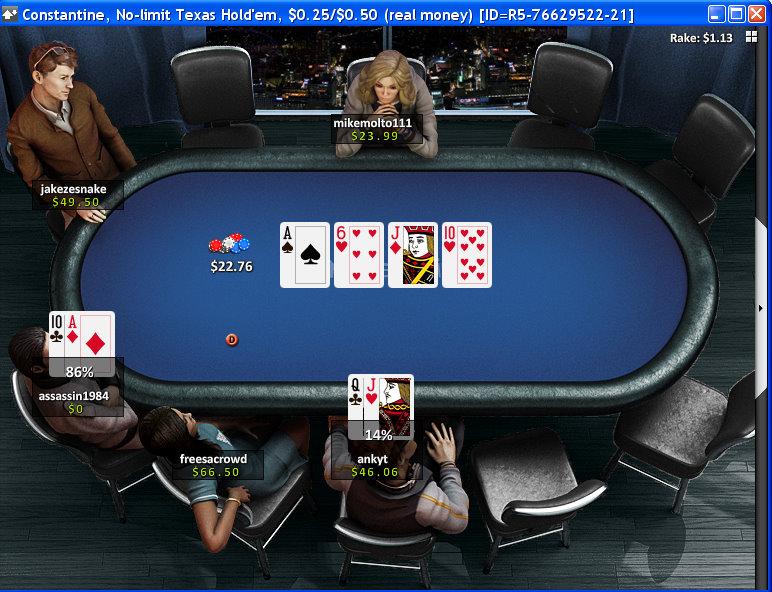 Betfair Poker Table